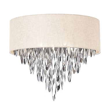 Willa Arlo Interiors Edmon 4-Light Flush Mount; Cream