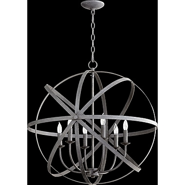 Willa Arlo Interiors Dian 6-Light Candle-Style Chandelier; Zinc