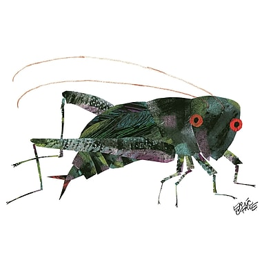 'The Very Quiet Cricket Character Art Front Cover' by Eric Carle Painting Print on Wrapped Canvas