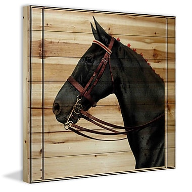 Marmont Hill 'Journal Horse 2' Painting Print on Natural Pine Wood; 18'' H x 18'' W