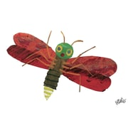 Marmont Hill 'Red Firefly Character Art' by Eric Carle Painting Print on Wrapped Canvas