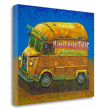 Tangletown Fine Art 'Van Ordinaire Boulangerie' Print on Wrapped Canvas; 18'' H x 22'' W