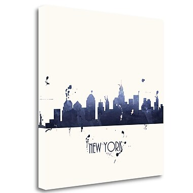 Tangletown Fine Art 'True Blue New York - Sq.' Graphic Art Print on Wrapped Canvas; 35'' H x 35'' W