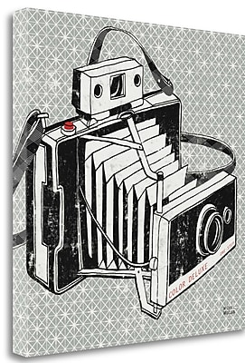 Tangletown Fine Art 'Vintage Analog Camera' Graphic Art Print on Wrapped Canvas; 24'' H x 24'' W