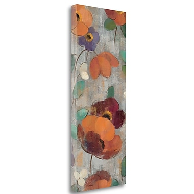 Tangletown Fine Art 'Urban Floral Panel II' Print on Wrapped Canvas; 32'' H x 13'' W