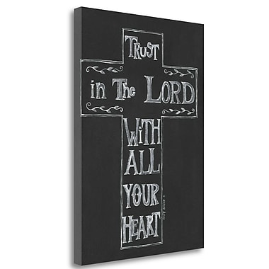 Tangletown Fine Art 'Trust in the Lord' Textual Art on Wrapped Canvas; 34'' H x 24'' W