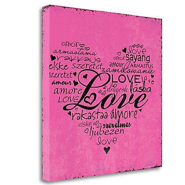 Tangletown Fine Art 'A Love Heart' Textual Art on Canvas; 20'' H x 20'' W