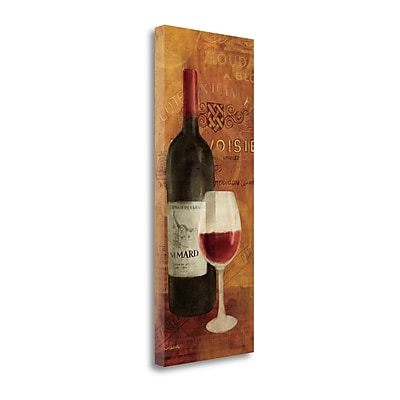 Tangletown Fine Art 'Vin Rouge Panel II' Graphic Art Print on Wrapped Canvas; 40'' H x 16'' W