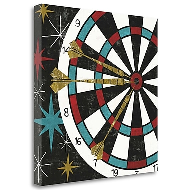 Tangletown Fine Art 'Vegas - Darts' Graphic Art Print on Wrapped Canvas; 24'' H x 24'' W