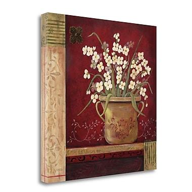 Tangletown Fine Art 'Villa Whites' Print on Wrapped Canvas; 25'' H x 25'' W