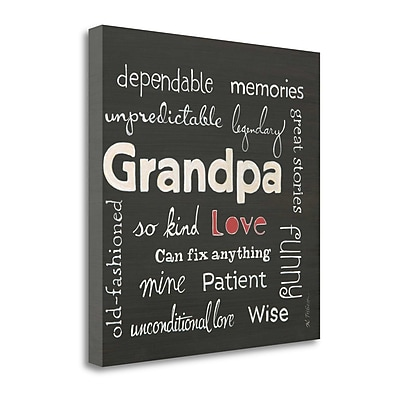 Tangletown Fine Art 'Grandpa Love' Textual Art on Canvas; 24'' H x 24'' W