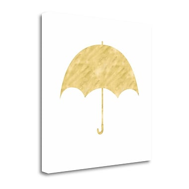 Tangletown Fine Art 'Umbrella' Graphic Art Print on Canvas; 20'' H x 20'' W