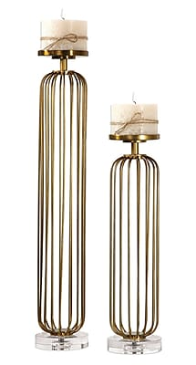 Brayden Studio Shay 2 Piece Metal Candlestick w/ Bases (Set of 2)