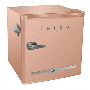 Igloo – Refrigérateur bar rétro FR176-CORAL de 1,6 pi cu avec ouvre-bouteille, corail