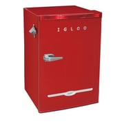Igloo FR376-RED 3.2 CUBIC FT Retro Bar Fridge, Red
