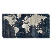 "Amanti Art Canvas Art Gallery Wrap 'Old World Map Blue' by Wild Apple Portfolio, 36"" x 18"" (DSW1418754)"