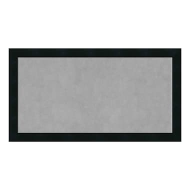Amanti Art Framed Magnetic Board Medium, Mezzanotte Black, 26