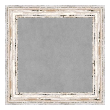 Amanti Art Framed Magnetic Board Small Square, Alexandria White Wash, 16