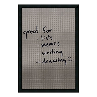 Amanti Art Framed Dry Erase Board Large, Double Circles, 22