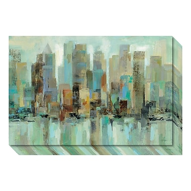 Amanti Art – Toile galerie « Morning Reflections Skyline » par Silvia Vassileva, 24 x 16 po (DSW3466642)