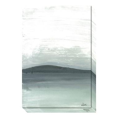 Amanti Art – Toile galerie « Silence argenté : la montagne » par Joan Davis, 20 x 30 po (DSW3466694)