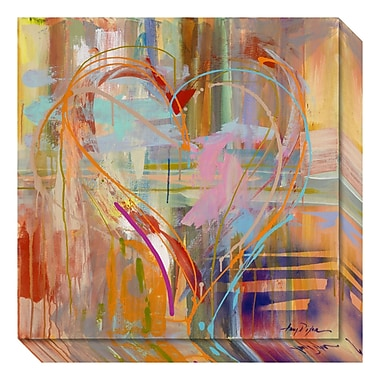 Amanti Art – Toile galerie « Abstract Heart » d'Amy Dixon, 20 x 20 po (DSW3466695)