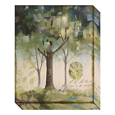 Amanti Art Canvas Art Gallery Wrap 'Hopes & Greens III: Tree' by Lisa Audit, 16