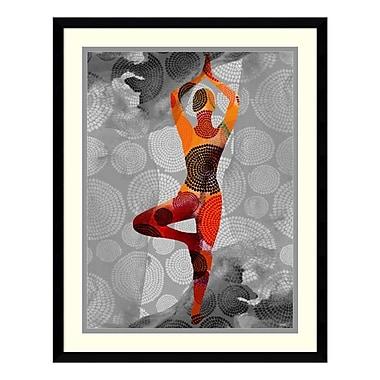 Amanti Art – Impression encadrée par Sisa Jasper, pose de yoga I, 23 x 29 po (DSW3902552)