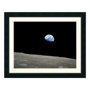 "Amanti Art Framed Art Print 'Earthrise, Apollo 8, December 24, 1968' by NASA, 31"" x 25"" (DSW1035592)"