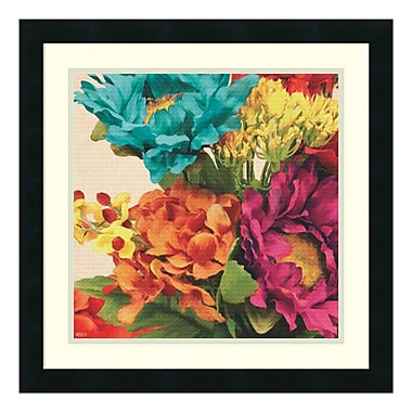 Amanti Art – Impression encadrée par Jocelyne Anderson, pop art floral I, 21 x 21 po (DSW3337380)