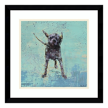 Amanti Art – Impression encadrée par Rebecca Kinkead, secouage no 3 chien, 17 x 17 po (DSW3337423)
