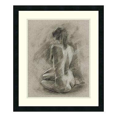 Amanti Art – Impression encadrée par Ethan Harper, étude de corps au charbon II, 23 x 27 po (DSW3394786)