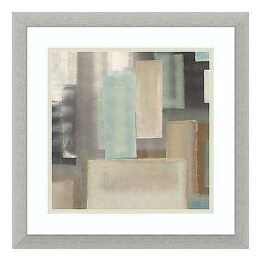 Amanti Art – Impression encadrée par Italo Corrado, « Turquoise II », 18 x 18 po (DSW3396970)