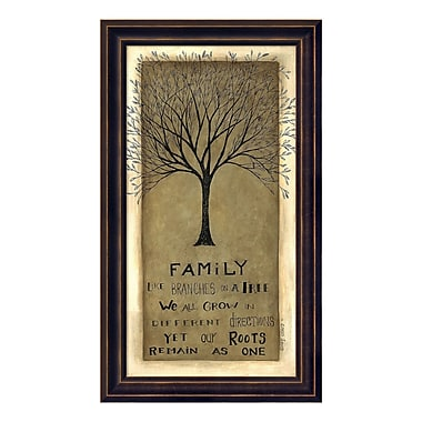 Amanti Art – Reproduction encadrée de « Family Tree » par Cindy Shamp, 10 x 17 po (DSW3414782)