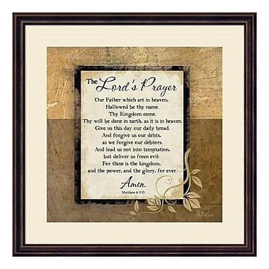 Amanti Art Framed Art Print 'The Lord's Prayer' by Jennifer Pugh, 22