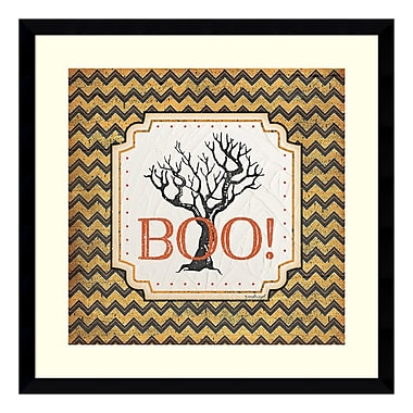Amanti Art Framed Art Print 'Halloween - Boo' by Jennifer Pugh, 21