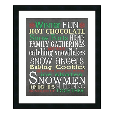 Amanti Art – Impression encadrée de « Winter Fun » par Jo Moulton, 22 x 26 po (DSW3414805)