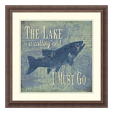 Amanti Art – Impression encadrée de « The Lake Fishing » par Jo Moulton, 23 x 23 po (DSW3414813)