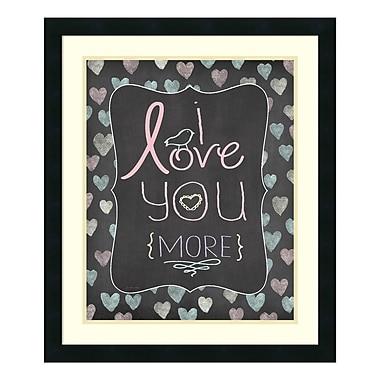 Amanti Art Framed Art Print 'Love You More' by Jo Moulton, 22