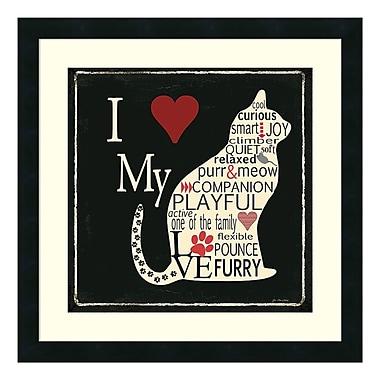 Amanti Art – Impression encadrée de « Love My Cats » par Jo Moulton, 22 x 22 po (DSW3414821)