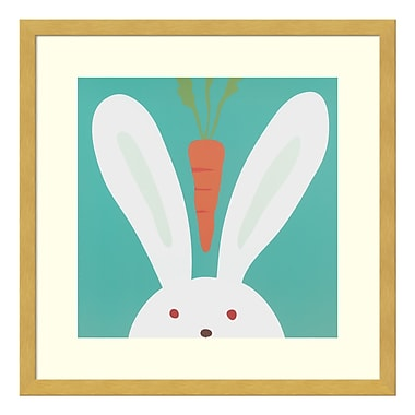 Amanti Art – Reproduction encadrée de « Peek-a-boo I - Rabbit » par Yuko Lau, 17 x 17 po (DSW3414977)