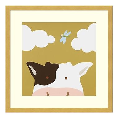 Amanti Art – Impression encadrée par Yuko Lau, coucou III : vache, 17 x 17 po (DSW3414988)