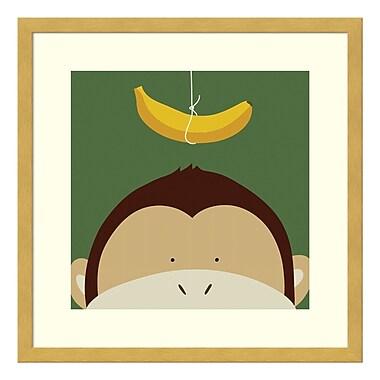 Amanti Art – Impression encadrée par Yuko Lau, coucou de singe, 17 x 17 po (DSW3415006)