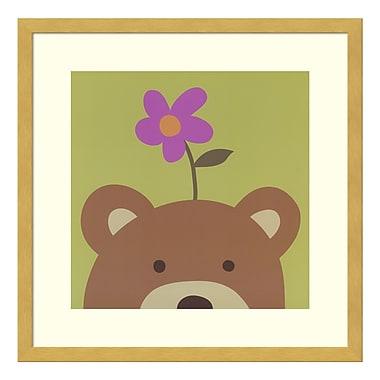 Amanti Art Framed Art Print 'Peek-a-boo VI - Bear' by Yuko Lau, 17