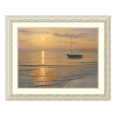 Amanti Art Framed Art Print 'Mattino sul mare (Sailboat)' by Adriano Galasso, 32