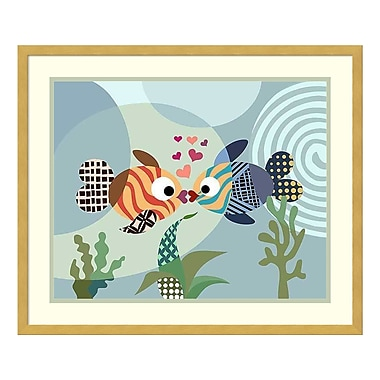 Amanti Art – Reproduction encadrée de « Love Fish » par Lanre Adefioye, 25 x 21 po (DSW3420004)