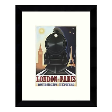 Amanti Art – Impression encadrée de « London-Paris Overnight Express » par Steve Forney, 9 x 11 po (DSW3422424)