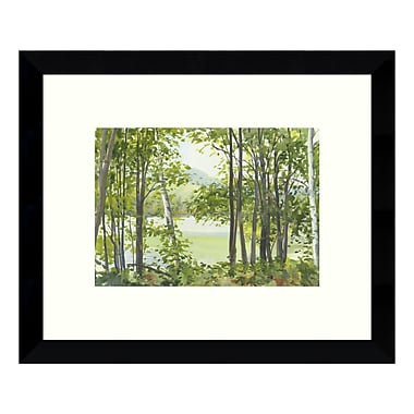 Amanti Art – Reproduction encadrée de « Summer Lake V » par Elissa Gore, 11 x 9 po (DSW3422427)
