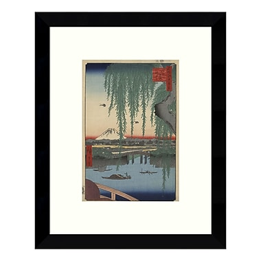 Amanti Art – Impression encadrée par Ando Hiroshige, « Yatsumi no Hashi (Pont Yatsumi) 1856 », 9 x 11 po (DSW3422457)