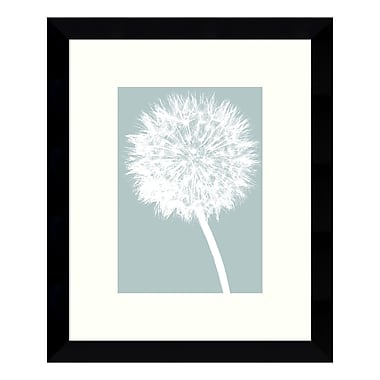 Amanti Art – Reproduction encadrée de « Dandelion (Blue) » par Jenny Kraft, 9 x 11 po (DSW3422489)